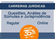 Questões, Súmulas e Jurisprudência | Regular  | On-line