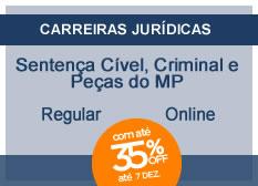 Sentença Cível, Criminal e Peças do Ministério Público | Regular | On-line
