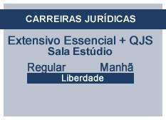 Extensivo Essencial Carreiras Jurídicas | Estúdio | Teoria + QSJ | Regular | Manhã | Liberdade