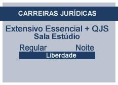 Extensivo Essencial Carreiras Jurídicas | Estúdio | Teoria + QSJ | Regular | Noite | Liberdade