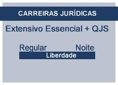 Extensivo Essencial Carreiras Jurídicas | Teoria + QSJ | Regular | Noite | Liberdade