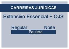 Extensivo Essencial Carreiras Jurídicas | Teoria + QSJ | Regular | Noite | Paulista