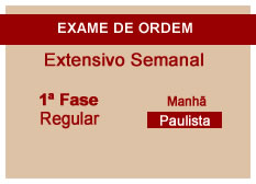 Extensivo OAB | 1ª Fase | Modular | Regular | Manhã | Paulista