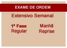 Extensivo OAB | 1ª Fase | Reprise | Modular | Regular | Manhã