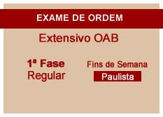 Extensivo OAB | 1ª Fase | Regular | Fins de Semana | Paulista