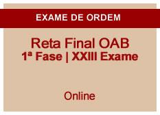 Reta Final OAB | 1ª Fase | XXIII Exame | Online
