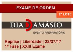 Dia Damásio OAB | 1ª Fase | XXIII Exame | Reprise | Liberdade