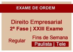 Direito Empresarial | 2ª Fase | XXIII Exame | Regular | Fins de Semana | Telepresencial | Paulista