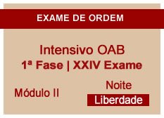 Intensivo OAB | 1ª Fase | XXIV Exame | Entrada Módulo II | Noite | Liberdade