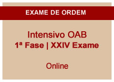 Intensivo OAB    1ª Fase   XXIV Exame   Entrada Módulo II   On-line