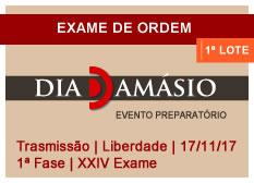 Dia Damásio OAB | 1ª Fase | XXIV Exame | Transmissão | Liberdade