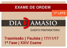 Dia Damásio OAB | 1ª Fase | XXIV Exame | Transmissão | Paulista