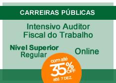 Intensivo Auditor Fiscal do Trabalho | Nível Superior | Regular | On-line