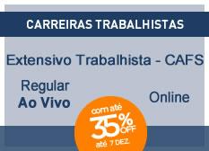 Extensivo Trabalhista - CAFS | Regular | On-line