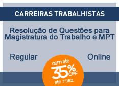 Resolução de Questões para Magistratura do Trabalho e Ministério Público do Trabalho | Regular | On-line