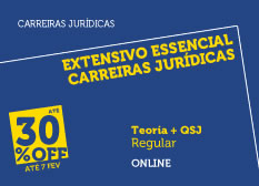 Extensivo Essencial Carreiras Jurídicas | Teoria + QSJ | Online