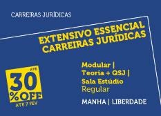 Extensivo Essencial Carreiras Jurídicas | Teoria + QSJ | Modular | Regular | Manhã  | Estúdio | Liberdade