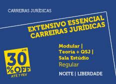 Extensivo Essencial Carreiras Jurídicas | Teoria + QSJ | Modular | Regular | Noite | Estúdio | Liberdade