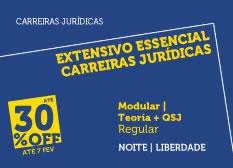 Extensivo Essencial Carreiras Jurídicas | Teoria + QSJ | Modular | Regular | Noite | Liberdade