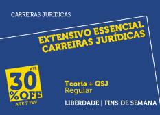 Extensivo Essencial Carreiras Jurídicas | Teoria + QSJ  | Modular | Regular | Fins de Semana
