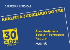 Analista Judiciário do TRE - Área Judiciária | Teoria + Português | Regular | Manhã