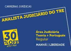 Analista Judiciário do TRE - Área Judiciária | Teoria + Português | Regular | Manhã | Liberdade