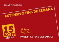 Extensivo Fins de Semana | 1ª Fase | Modular | Regular | Paulista