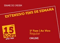 Extensivo Fins de Semana | 1ª Fase | Modular | Online