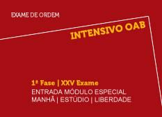 Intensivo OAB | 1ª Fase | XXV Exame | Entrada Módulo Especial | Manhã | Estúdio | Liberdade