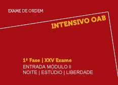 Intensivo OAB | 1ª Fase | XXV Exame | Entrada Módulo II | Noite | Estúdio | Liberdade