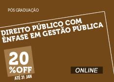 Direito Público com Ênfase Gestão Pública | Online