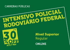 Intensivo Policial Rodoviário Federal | Nível Superior | Regular | Online