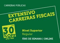 Extensivo Carreiras Fiscais | Nível Superior | Regular | Fins de Semana | Online