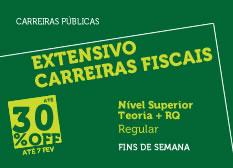 Extensivo Carreiras Fiscais | Nível Superior | Teoria + RQ | Regular | Fins de Semana