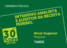 Intensivo Analista e Auditor Fiscal da Receita Federal | Nível Superior | Regular | Tarde