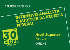 Intensivo Analista e Auditor Fiscal da Receita Federal | Nível Superior | Regular | Online
